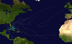 1906 Atlantic hurricane season - Image: 1906 Atlantic hurricane season summary