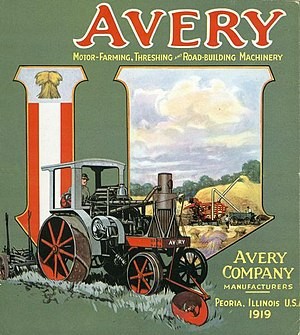 Avery Company - Image: 1919 Avery Company catalog cover