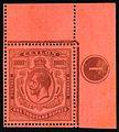 1925 Ceylon 1000R (SG323) plate number single.jpg