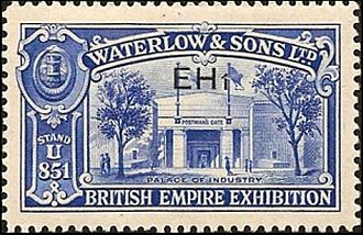 Waterlow and Sons - A promotional stamp produced in 1925 by Waterlow for the British Empire Exhibition.