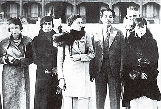 Edda Mussolini - Edda Ciano Mussolini (center) during a trip in China.