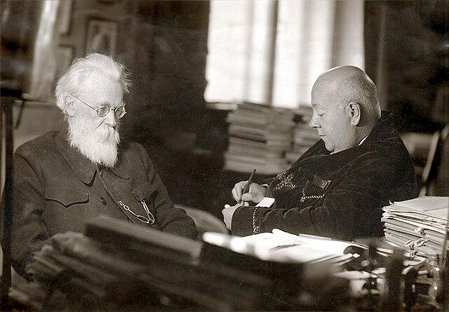 С А.Е.Ферсманом, 1940