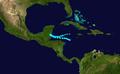 1943 Atlantic tropical storm 10 track.png