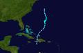 1948 Atlantic tropical storm 1 track.png