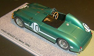 Leslie Johnson (racing driver) - Scale model by Bizarre 1/43 (Art. BZR090) of the 1952 Nash-Healey lightweight purpose-built for the Le Mans 24-hour race. Driven by Leslie Johnson and Tommy Wisdom, it finished third.
