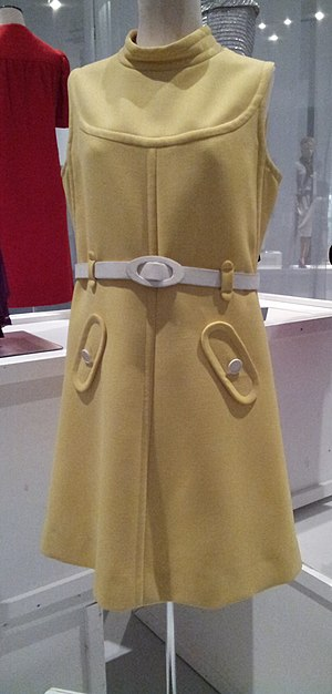 André Courrèges - 1967 yellow wool Courrèges dress
