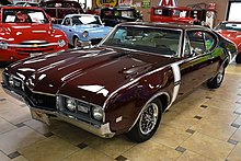 1968 oldsmobile on display at ideal classic cars in venice, florida