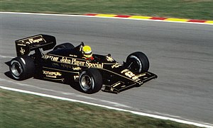 1985 European Grand Prix - Ayrton Senna finished second for Lotus having started from pole position.