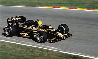 Ayrton Senna - Senna driving the Team Lotus 97T at the 1985 European Grand Prix.