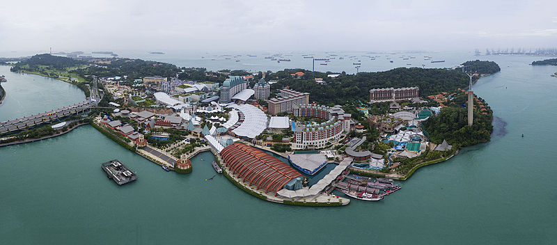 Sentosa wikipedia aerial panorama of sentosa facing south gumiabroncs Gallery