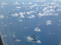 Mamanuca Islands from the air