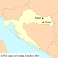 2005-Croatia map H5N1.png
