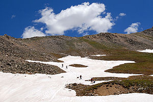 La Plata Peak - Hikers near La Plata Peak summit
