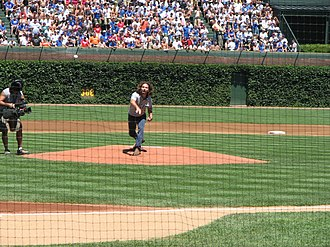 All the Way (Eddie Vedder song) - Throwing ceremonial first pitch