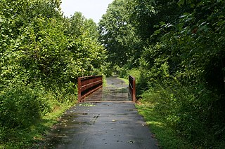 Ellerbe Creek Stream in North Carolina, USA