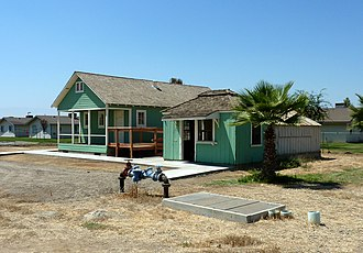 Weedpatch Camp - The Library (left) and Post Office (right) buildings were moved and their exteriors restored.