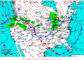 2012-01-19 Surface Weather Map NOAA.png