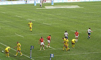 Australia national rugby sevens team - Image: 2013 Rugby World Cup Sevens First Day 91 v 2