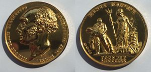 Gilbert Blane - The Gilbert Blane Medal designed by Benedetto Pistrucci