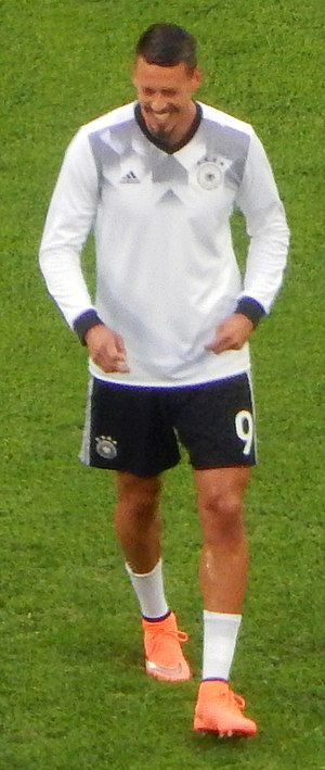Sandro Wagner - Wagner playing for Germany in 2017