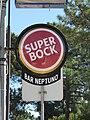 2018-02-08 Super Bock sign, Neptuno Bar Bistro, Praceta do Pinhal, Aldeia da Falésia, Olhos de Água.JPG
