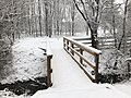 2018-03-21 08 48 13 View along a snow-covered walking path as it crosses a bridge in the Franklin Farm section of Oak Hill, Fairfax County, Virginia.jpg