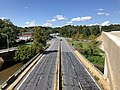 2019-08-25 10 52 29 View south along U.S. Route 1 (Washington Boulevard) from the overpass for Interstate 895 (Baltimore Harbor Tunnel Thruway) as it crosses the Patapsco River from Arbutus, Baltimore County to Elkridge, Howard County, Maryland.jpg
