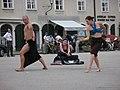 2211 - Salzburg - Mozartplatz - Dancers.JPG