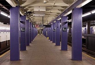 Second Avenue (IND Sixth Avenue Line) - Station platform
