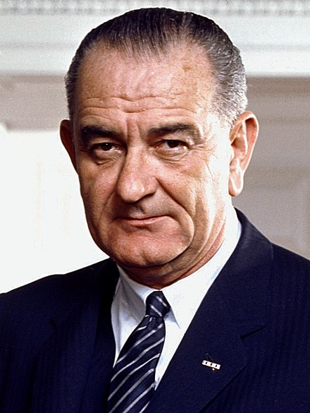 January 20: Lyndon B. Johnson begins full term as President of the United States 37 Lyndon Johnson 3x4.jpg