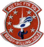 421st Tactical Fighter Squadron 1980s Patch.png