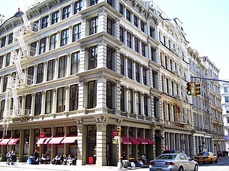 SoHo, Manhattan - Cast-iron buildings at 453-467 Broome Street between Mercer and Greene Streets
