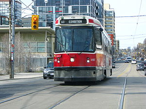 511 Bathurst - Streetcar 4199 heading south on Bathurst St.