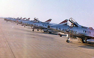 Takhli Royal Thai Air Force Base - 522d Tactical Fighter Squadron F-100DS at Takhli, 1963