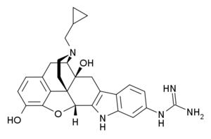 6'-Guanidinonaltrindole - Image: 6' guanidinonaltrindole structure