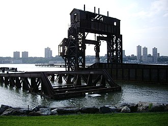 Train ferry - The New York Central Railroad 69th Street Transfer Bridge