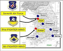 Kunsan Air Base Wikipedia - Us air force bases in england map