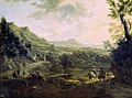 A. (1622-02-15) Pijnacker - Italiaans landschap met burcht op rotsen - B2732 - Cultural Heritage Agency of the Netherlands Art Collection.jpg