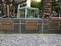 A. Davis, C. Lilley and E. Miller statues in Brisbane 02.JPG