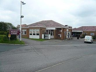 Leeming Bar - Services on the A6055 road at Leeming Bar