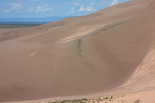 Great Sand Dunes National Park and Preserve American national park, large sand dunes on eastern edge of the San Luis Valley, Sangre de Cristo Range, Colorado, United States