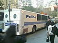 APEC Australia 2007 Police Bus Rear, 3 Sept 2007.jpg
