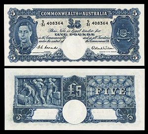 AUS-27d-Commonwealth Bank of Australia-Five Pounds (1952).jpg