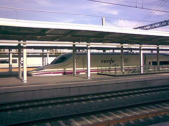 Madrid–Levante high-speed rail network - AVE in Albacete Station