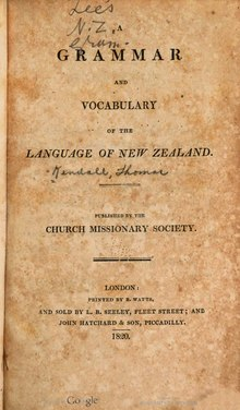 A Grammar and Vocabulary of the Language of New Zealand.djvu