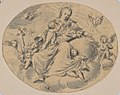 A Personification of Charity Seated on a Cloud, Surrounded by Putti MET DP831816.jpg