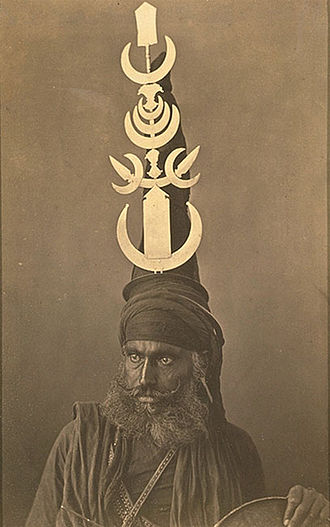 Nihang - A Nihang in the 1860s with a characteristically elaborate turban.