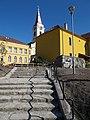 A Templomdomb épületes a Batsányi János téri lépcső felől nézve, 2019 Tapolca.jpg