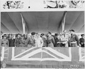 "A group of notables in the reviewing stand on the ""Charlottenberger Chausce"" during the British victory parade in... - NARA - 198897.tif"