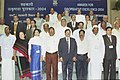 A group photographs of the recipients of Co-operative Excellence Awards of Cooperative societies in New Delhi on November 16, 2004. The Prime Minister, Dr. Manmohan Singh, The Union Minister for Agriculture.jpg